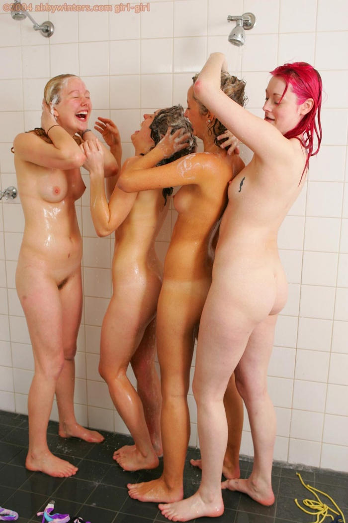 Communal mixed sex showering